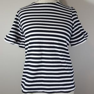 J crew Black Label striped top size small.